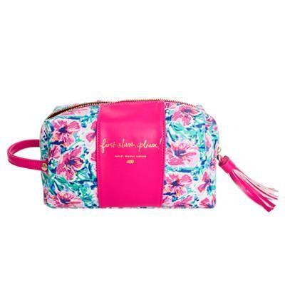 First Class Floral Makeup Bag – Ashley Brooke Designs