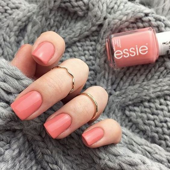 essie:  Warm up with a 'stones n roses' mani.