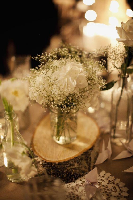 Cozy brooklyn winter wedding jars and flower