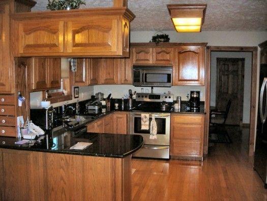 Dark Oak Kitchen Cabinets | File Name : Kitchen colors with oak ...