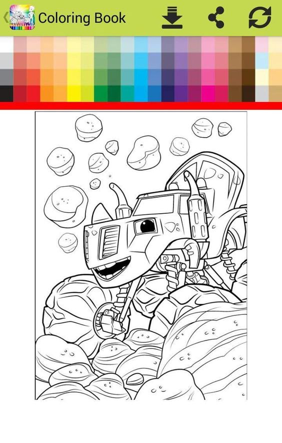 Blaze And The Monster Machines Coloring Coloring Blaze With Monster Machine Go For Monster Truck Coloring Pages Truck Coloring Pages Paw Patrol Coloring Pages