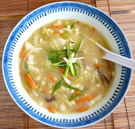 Chinese White Cabbage and Corn Soup