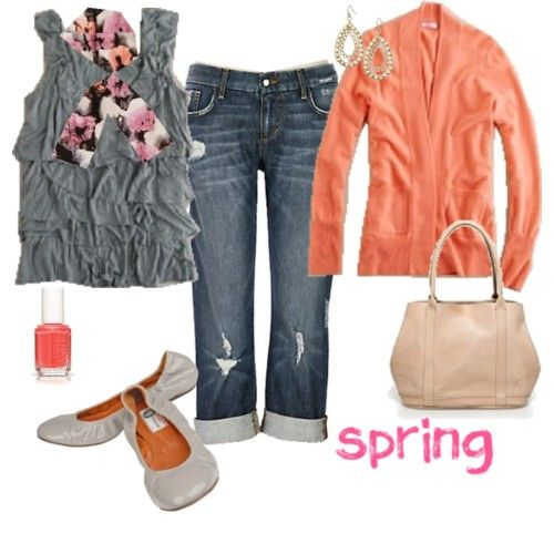 Spring: Spring Time, Dream Closet, Coral Gray, Spring Colors, Spring Coral, Spring Summer, Spring Casual, Spring Outfits, Spring Style