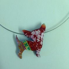 """Broche/collier pendentif """"chihuahua"""" - idole 1er - nouvelle collection"""