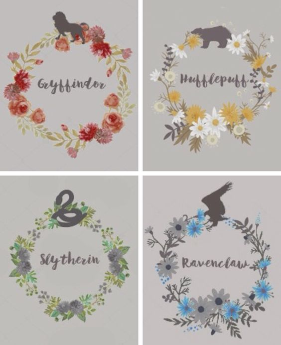 Hogwarts Houses: Gryffindor, Ravenclaw, Slytherin, and Hufflepuff