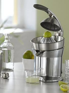 Create fresh, delicious juice from your favorite fruits with the Breville Die-Cast Citrus Press.