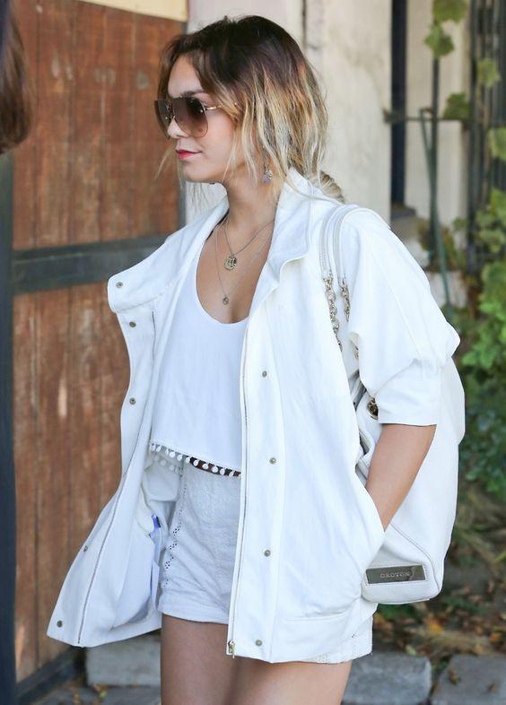 Vanessa Hudgens arriving to Nine Zero One Salon in West Hollywood.