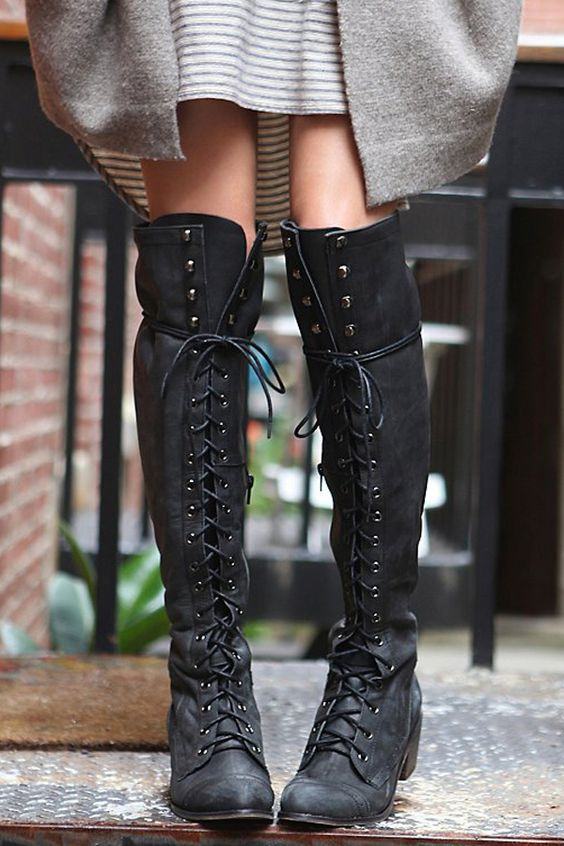 How To Wear Tall Boots All Spring Long | Lace up boots ...