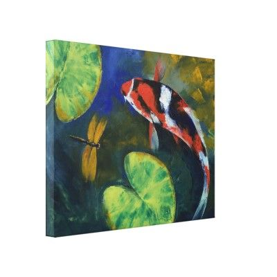 Showa Koi and Dragonfly Gallery Wrap Canvas by Mozaix $149.00