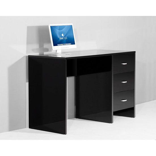 Sphere Computer Desks In High Gloss Black Computer Desk