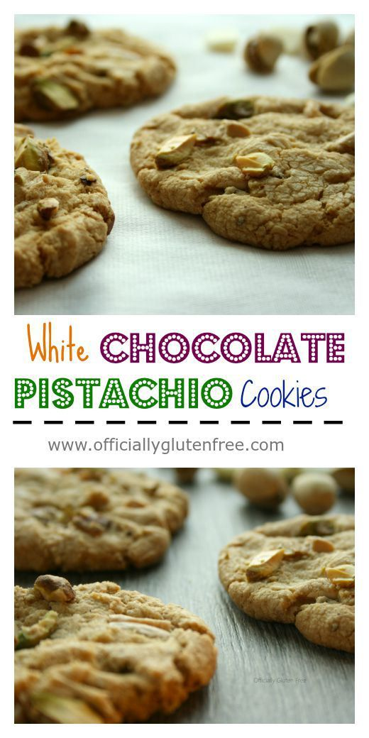Pistachio cookies, Pistachios and White chocolate on Pinterest