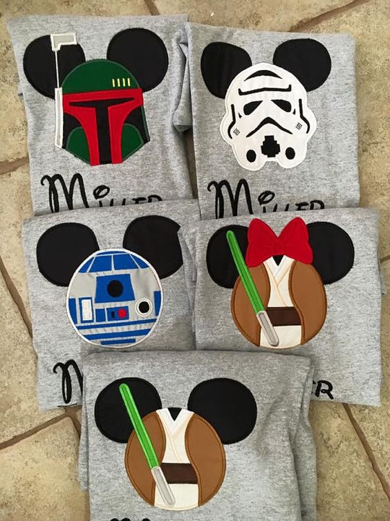 Family Disney Shirts Personalized Star Wars  Mickey by knorried001