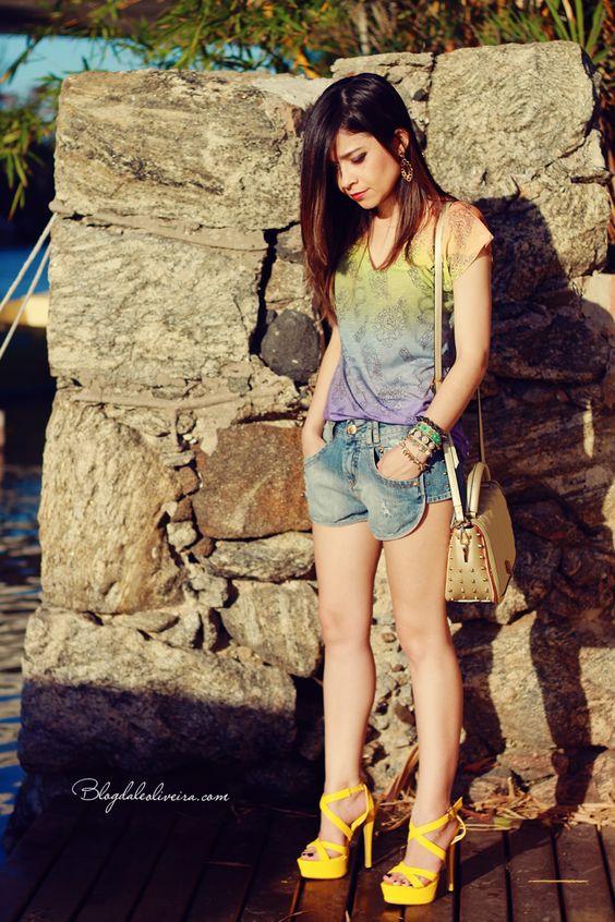 Blog da Lê: No look short e t-shirt divertida