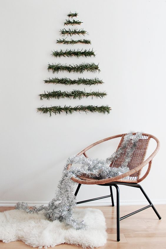 15 Do It Yourself Christmas crafts and decorations for the holiday season. Easy to make Christmas trees, cone  Christmas tree, DIY ornaments, DIY Christmas wreaths, Nordic and Scandinavian decor with Christmas garlands. Image from Almost Makes Perfect