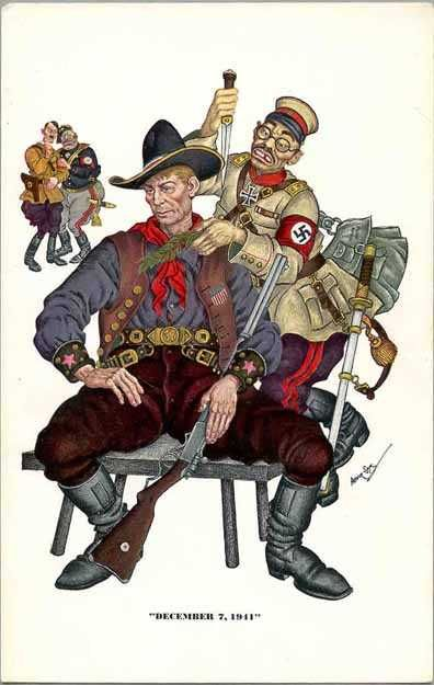 December 7, 1941 - painting done by Arthur Szyk, a Polish-Jew who emigrated to America in 1940.