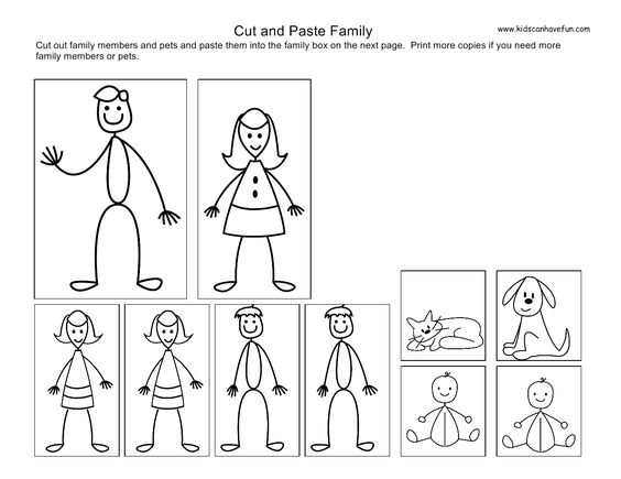 my family members worksheets for preschoolers – My Family Worksheets for Kindergarten