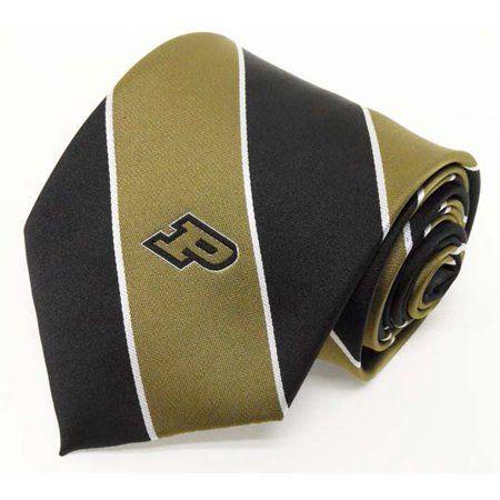 Purdue Boilermakers Stripe Necktie Black Purdue Boilermakers