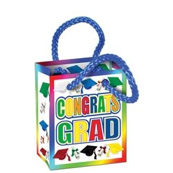Party Supplies | Graduation | Graduation Favor Bags...Congratulate the recent graduate by filling up this Congrats Grad Mini Gift Bag Party Favors! While this bag is small, you can still load it up with money and gift cards!
