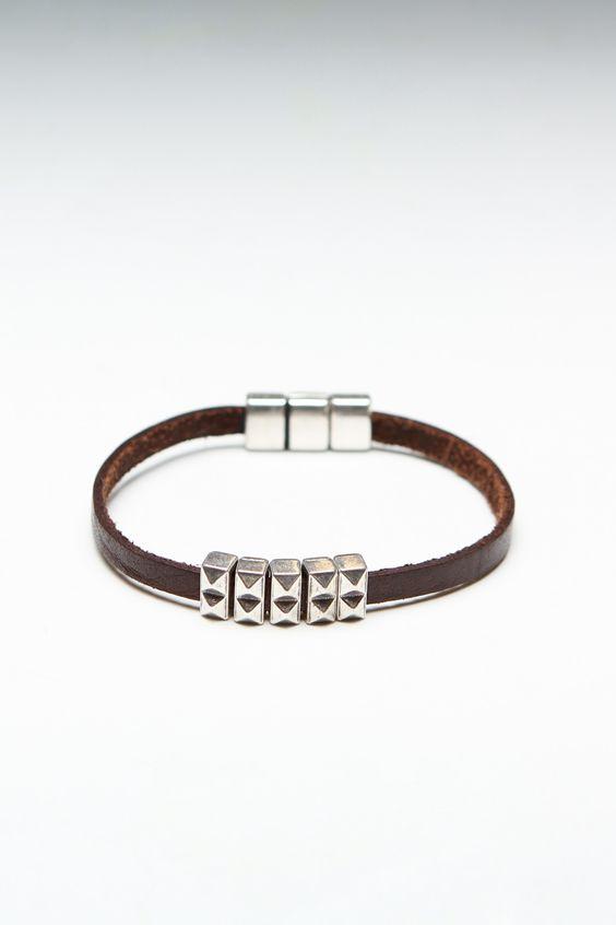 Guys' Leather Bracelet