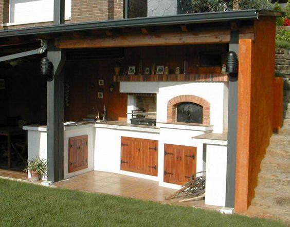 Horno y barbacoa para exterior barbacoas y hornos for Modelos de patios