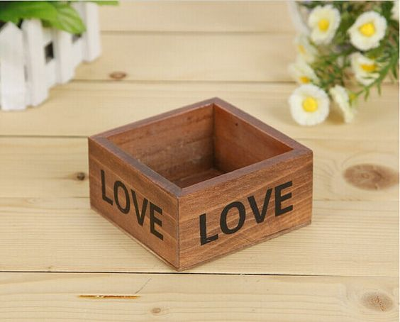 SmallDeco Handmade Rustic Wood wooden Box wood by togreenlife2012,