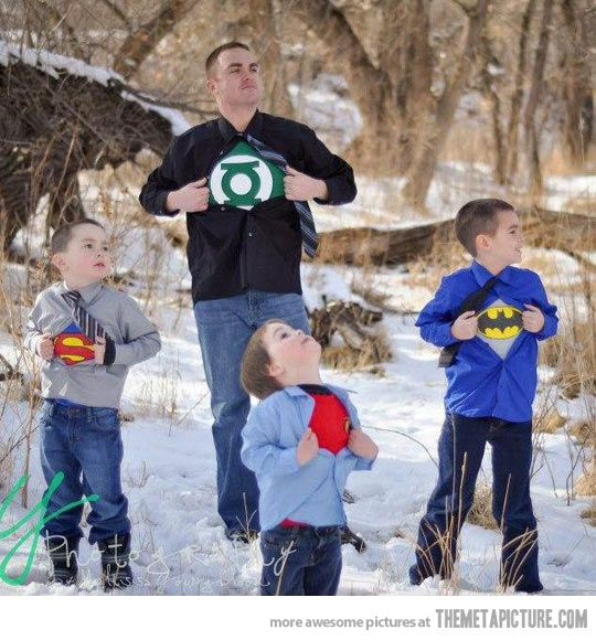 Awesome superhero family photo shoot…The family that superhero's together, well, you get the idea.