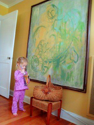 ideas for cheap decorating: Canvas Paintings, Ugly Painting, Kids Art, Diy Project, Art Projects, Painting Canvas