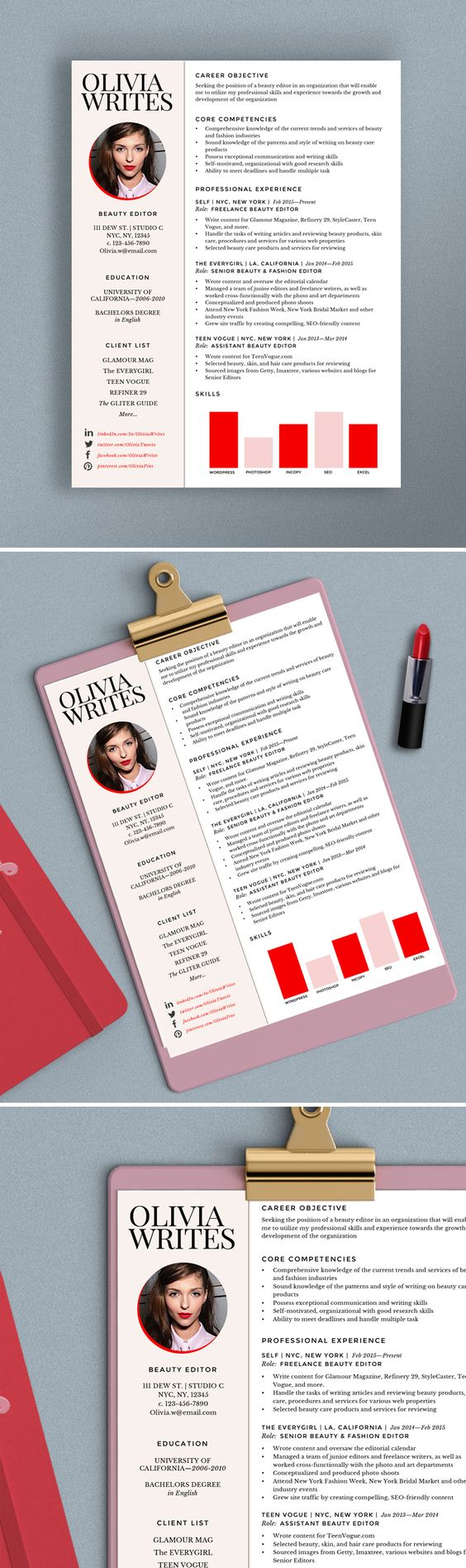 free resume templates  Creative Resume Formats Modern Resume Template Pages  Creative Pertaining To    Exciting