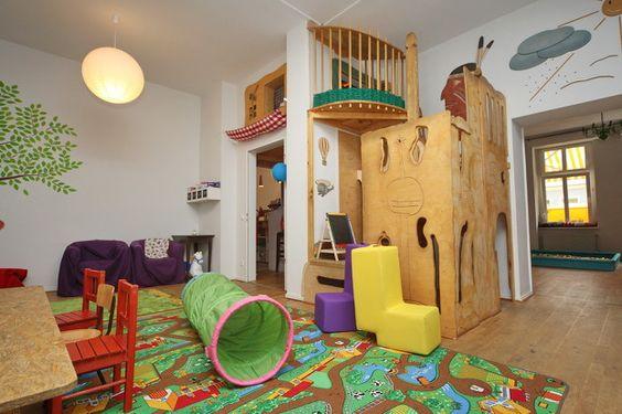 """A family-friendly café (""""kindercafé"""") with a play area in Friedrichshain"""
