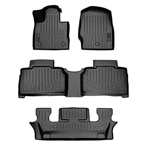 Smartliner All Weather Custom Fit Floor Mats 3 Row Liner Set Black