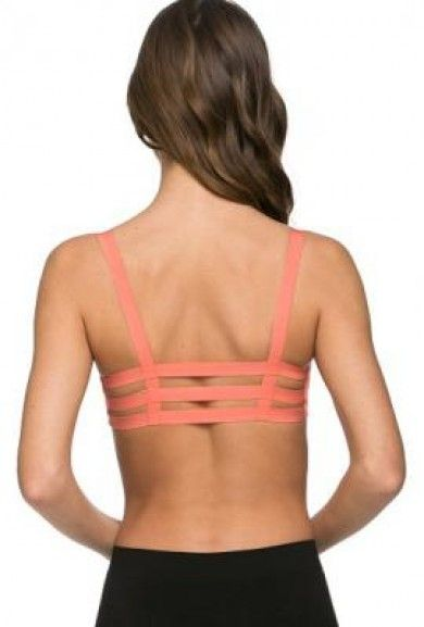 Bralette  https://sincerelysweetboutique.com/clothing/intimates/bralettes.html - #bralette #bra #intimates - Bralette - Freedom in Motion Caged Coral Bralette