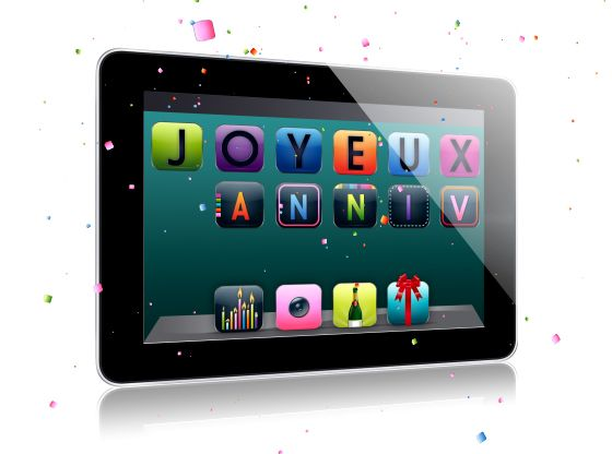 Ma Carte Anniversaire Anniversaire Sur Tablette Carte Anniversaire Anniversaire Carte De Voeux