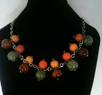 Earth Colours Ceramic bead Neckpiece...www.facebook.com/MalaikaJewelleryBox
