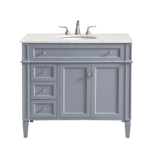 Elegant Lighting Park Avenue Gray 40 Inch Vanity Sink Set