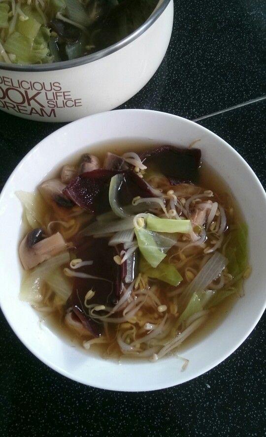 Asian Mixed Mushroom Soup