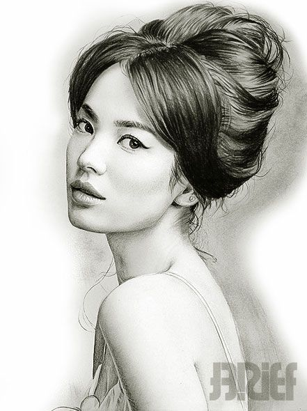 pencil drawings lady and song hye kyo on pinterest