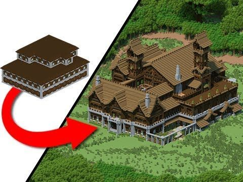 Transforming A Woodland Mansion By Jeracraft Minecraft Creations