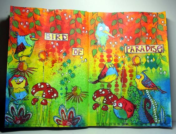 Felicie`s Creativ World: 2 matching journal pages