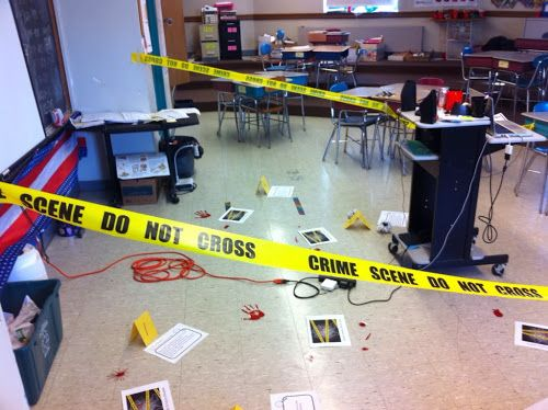 You Could Use This Crime Scene Classroom Setup For Many