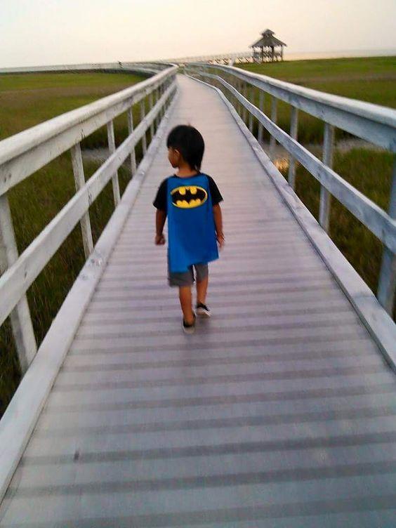 Little Superhero from Estela Garcia at Lighthouse Beach, Port Lavaca, TX!