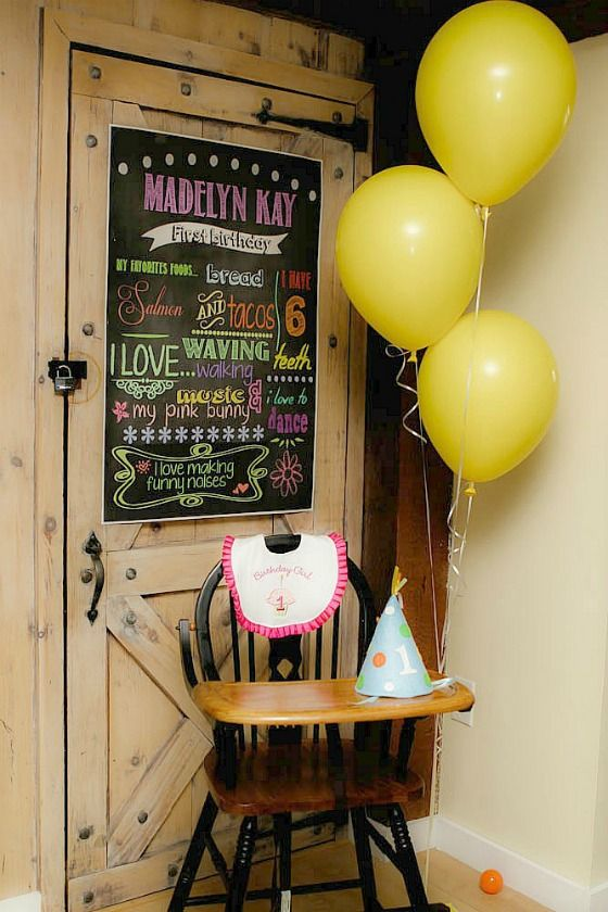 First Birthday High Chair/Smash Cake Area - #firstbirthday