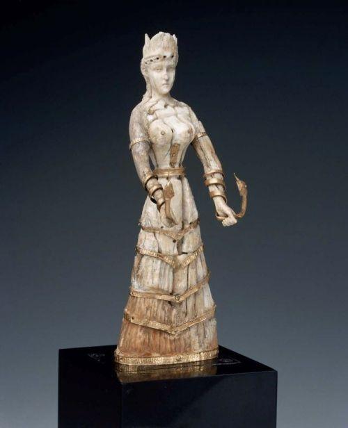 Minoan ivory snake goddess