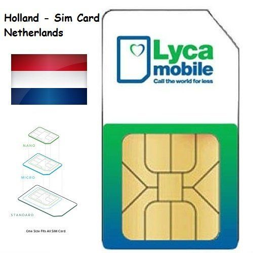 Gutes Produkt Lycamobile Lyca Mobile Prepaid Niederlande Holland 3