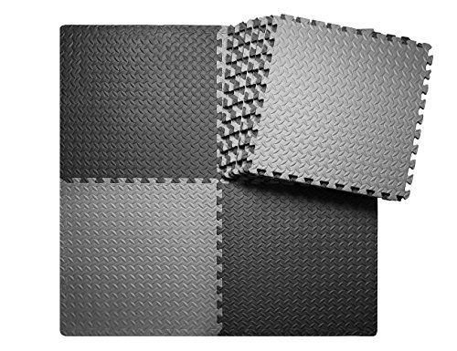 Innhom 12 Tiles 46 Sq Ft Gym Mat Exercise Mat Puzzle Foam Mats Gym Flooring Mat Interlockin In 2020 Gym Mats Gym Floor Mat Gym Flooring