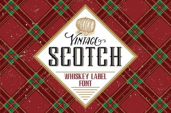 Scotch whiskey label font by Trivia on Creative Market