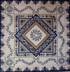 """""""Blue Mystique"""" Raffle Quilt from Maclean Patchwork and Quilters Blog"""