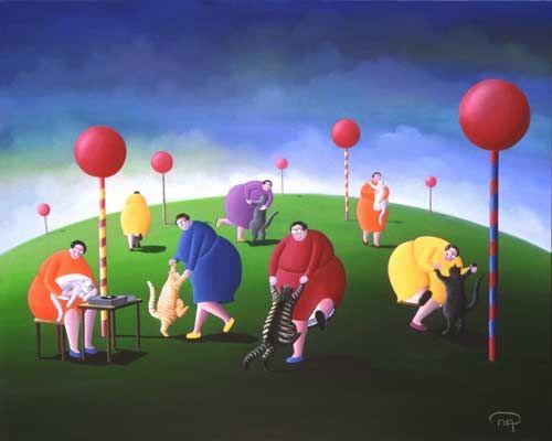 Nicole Avezard painting: