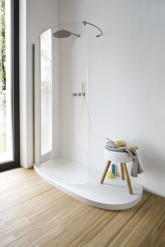 Design Corian® shower tray FONTE by @rexadesign