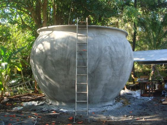 Ferro Cement rain water tank.... oh the potential!!: