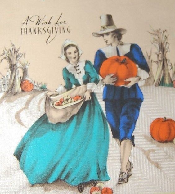 Vintage Thanksgiving card: